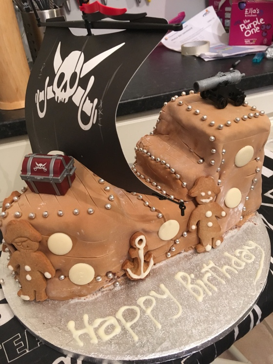 Swell The Pirate Ship Birthday Cake Whats A Daddy For Personalised Birthday Cards Bromeletsinfo